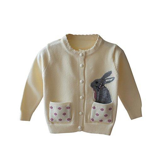 LOSORN ZPY Baby Mädchen Strickjacke Herbst Winter Strickpullover Casual Basic Mit Grau Käschen Süß Sweater Pullover