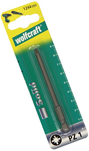Wolfcraft 1244000 1244000-1 Punta Solid, 89 mm, Pozidriv, Plata, 89mm