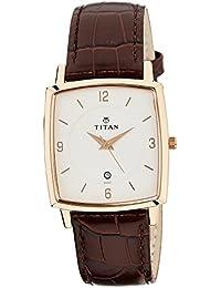 Titan Analog White Dial Men's Watch-NL9159WL01