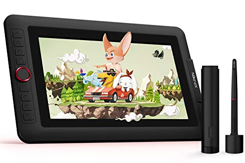 XP-PEN Artist 12 Pro 11,6 Zoll IPS-Display Grafiktablett mit Pen Display Drawing Pen Tablet 60 Grad Neigungsfunktion mit 1 Red Dial