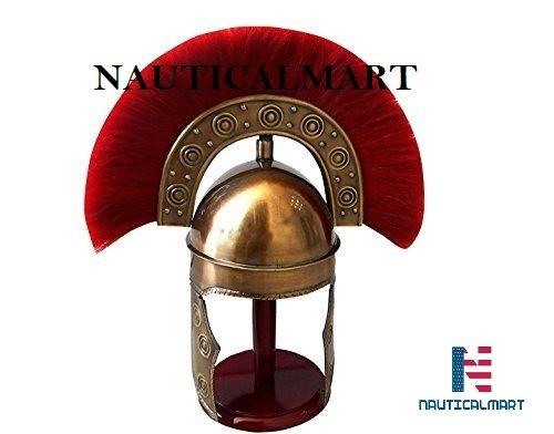NAUTICAL MART Nautische Mart Römische Rüstung Kostüm Mittelalter HBO Rom Helm–Rot –, Einheitsgröße, mit Armor Helm mit W/Plume Halloween–LARP