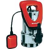 Einhell RG-DP 7525 N Schmutzwasserpumpe, 750 Watt, max. 16.000 l/h, Fremdkörper bis 25 mm, Edelstahlgehäuse