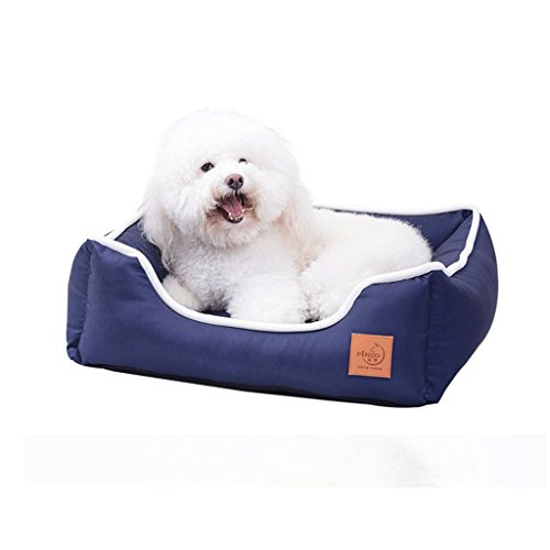 Hundekiste Bett für den Sommer, kratzfest, wasserabweisend, abnehmbar waschbar, besonders geeignet für mittelgroße Hunde in Kisten Zwinger Etagen Blau (Size : L)