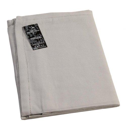 chdecke grau unifarben 180 cm aus 100% reiner Baumwolle, Tischtuch waschbar ()