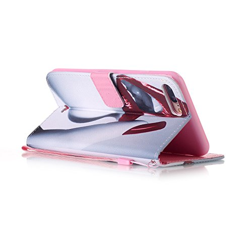 Iphone 7 Hülle, Linvei leder Hülle für Iphone 7 Flip Case ,Magnetic closure Apple 7 hülle, Schutz vor Dreck für Iphone 7 Taschen Schale Color 2