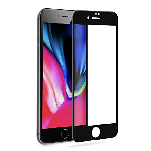 iPhone 8 Plus Panzerglas Schutzfolie Pomelo Best 3D Vollständige Abdeckung Displayschutzfolie 99% Transparenz 9H Hartglas (5,5, Schwarz)