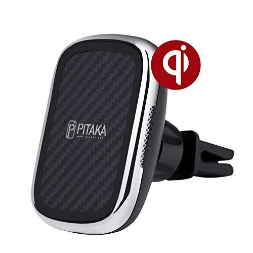 pitaka Magnetische Kfz-Halterung Kabelloses Aufladen New MagEZ Mount Qi Nur kompatibel mit MagEZ Case und MagEZ Case Pro schnell induktiver Qi-Handyhalter für Qi Smartphone-für Lüftungsgitter