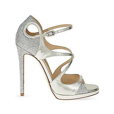 LvYuan Da donna-Sandali-Matrimonio Formale Serata e festa-Altro-A stiletto-PU (Poliuretano)-Argento Silver