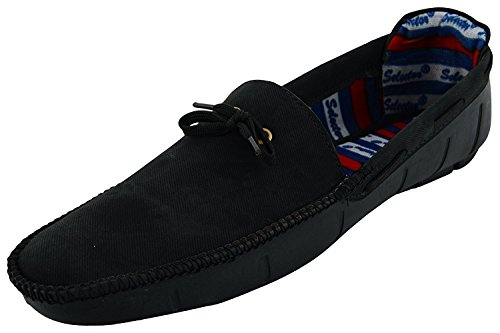 Anshul Fashion men's black fabric & synthetic loafers-6 (PNI-500-Black_6)  available at amazon for Rs.399
