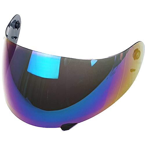 Helmvisier Agv K3 K4 K4 Evo Visier Klar Blau Smoke Gold Spiegel Ersatzvisier Aftermarket (Iridium Regenbogen)
