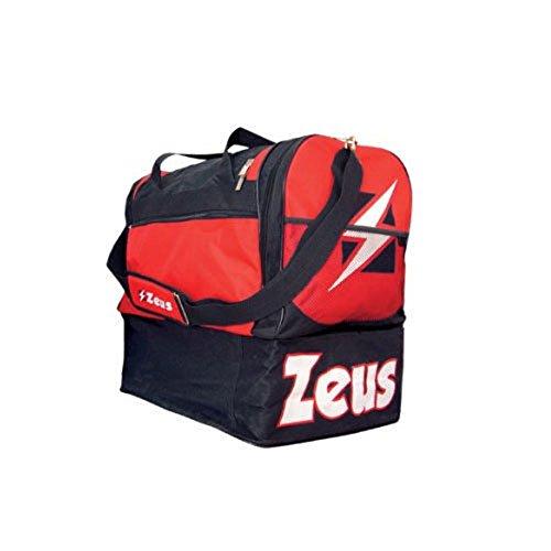 Zeus Herren Sporttasche Schultergurt Umhängetasche BORSA DELTA (BLAU-ROT) SCHWARZ-ROT