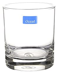 Ocean Multipurpose Whiskey/Water Glass Set, 290 ml, 6-Piece, Transparent
