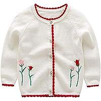 Huateng Baby Girl Cardigan Cardigan Sweater Cardigan para Niños Autumn Baby Clothes Fashion Children's Jacket
