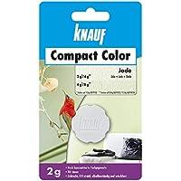 Knauf 4006379080472 Compact Colors Jade, hoch konzentrierte, granulierte Farbpigmente zum kompletten Durchfärben mineralischer Putze, vorportioniert, Nicht staubend, lichtecht, wischfest, 2 g