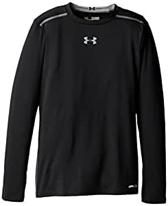 Under Armour Kinder Long Sleevehg Sonic Fitted Long Sleeve, schwarz, 164