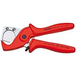 KNIPEX 90 20 185 Coupe-tubes pour tubes flexibles et gaines de protection en plastique renforcé de fibres de verre 185 mm