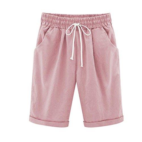 Shorts SANFASHION Damen Plus Size Casual Frauen Baumwolle Leinen Elastische Taille Sommer Dünne Hosen