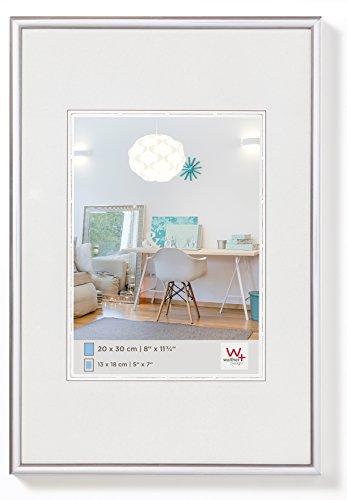walther design KV090S New Lifestyle Kunststoffrahmen, 60 x 90 cm, silber