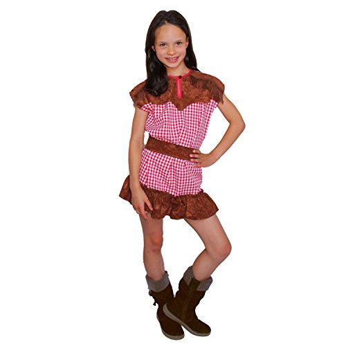 Krause & Sohn Kinder Kostüm Cowgirl Wyonna Western Mädchen Cowboy Fasching Karneval (128) (Kostüme Kinder Cowboy)