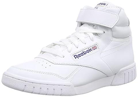 Reebok Ex-O-Fit Hi, Jungen Basketballschuhe, Weiß (Int-White), 36.5 EU (4.5 Kinder (Hi Calzature Da Ginnastica)