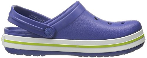 crocs Unisex-Kinder Crocband Kids Clogs Blau (Cerulean Blue/Volt Green)