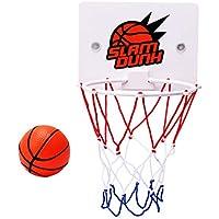 1 juego de aro de baloncesto para niños montado en la pared mini red de balonces