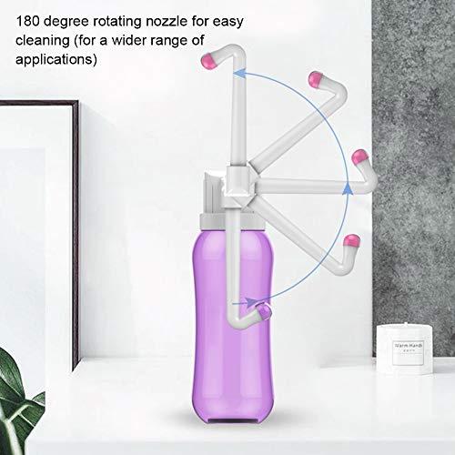 Hivexagon Bidet da Viaggio Portatile con 2 Ugelli di Pulizia Sostituibili On-The-Go Bidet per Igiene Personale con Collo Regolabile Adatto per l'igiene dei Bambini - Bottiglia da 500ml HG366