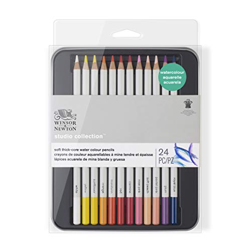 Winsor & Newton matite - scatola in metallo - 24 matite acquarello