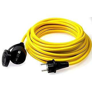 as - Schwabe 60355 Verlängerungskabel 25m, K35 gelb, IP44 für Aussenbereich, 230 Volt