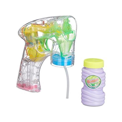 Relaxdays-Seifenblasen-Pistole-mit-Seifenblasenlsung-inkl-Batterien-LED-Licht-handlich-fr-Party-Karneval-Fasching-HBT-145-x-115-x-5-cm-transparent