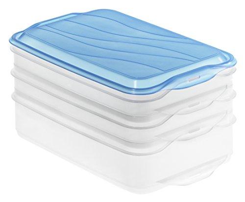Rotho 483423 Stapelbox, Kunststoff, blau, 23 x 15 x 11.5 cm