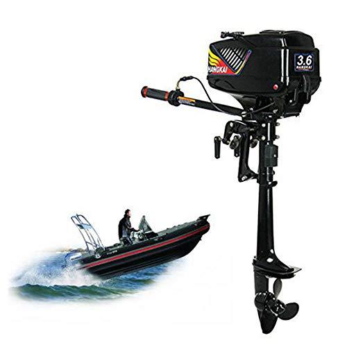 SENDERPICK 3.6PS 2 Takt Außenbordmotor Motor, Fischerboot Motor Aussenborder des Benzinmotors Wasserkühlsystem