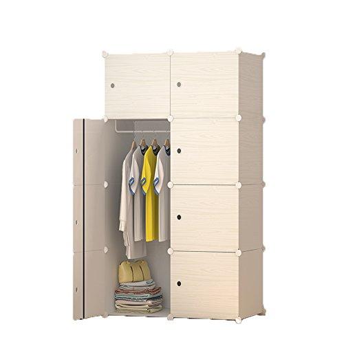 ETTBJA armadio con porta bagagli guardaroba per camera da letto Organizzatore combinazione resina plastica 75 * 38 * 145 size15