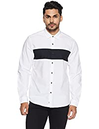 Indigo Nation Men's Solid Slim Fit Cotton Casual Shirt