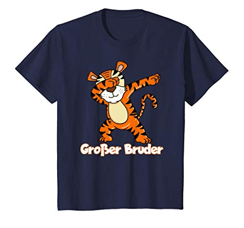 Kinder Großer Bruder T-Shirt Dabbing Tiger Shirt Geschenk (Große-bruder-schwester-shirt)
