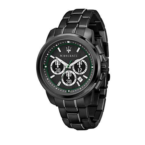 MASERATI Reloj Analógico para Hombre de Cuarzo con Correa en Acero Inoxidable R8873637004