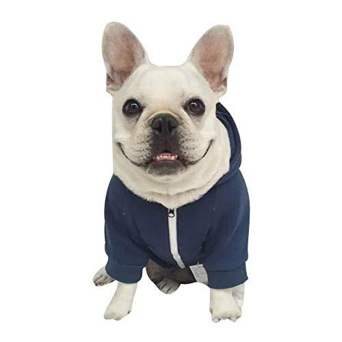 ndebekleidung Zip-UpHoodie Baumwollhundekleidungs-Ausstattungs-Haustier-Kostüm für französische Bulldogge ()
