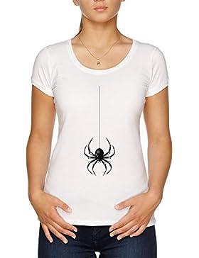 Vendax Colgando Araña Camiseta Mujer Blanco