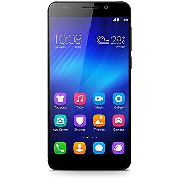Honor 6 Smartphone (5 pollici, Touchscreen, Octa-Core, 3GB RAM, 16GB ROM, fotocamera principale da 13MP, fotocamera frontale da 5MP, 4G/LTE CAT6, Android 4.4, EmotionUI 2.3, SIM singola) Nero