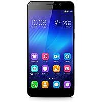 Honor 6 Smartphone débloqué 4G Cat 6 (Ecran : 5 pouces Full HD - 16 Go - Simple SIM  - Android 4.4 KitKat) Noir