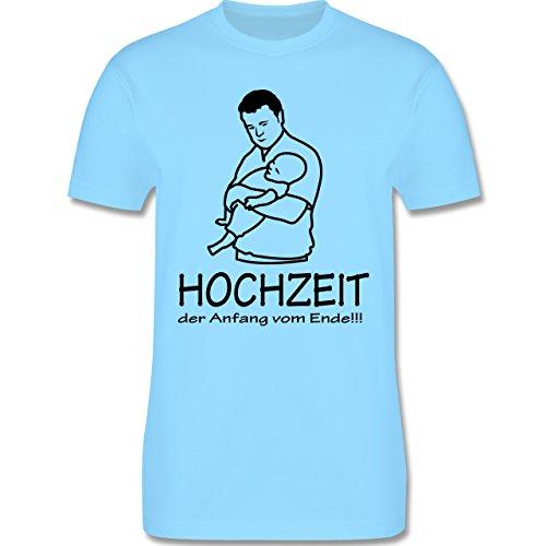 JGA Junggesellenabschied - Hochzeit - Der Anfang vom Ende - Herren Premium T-Shirt Hellblau