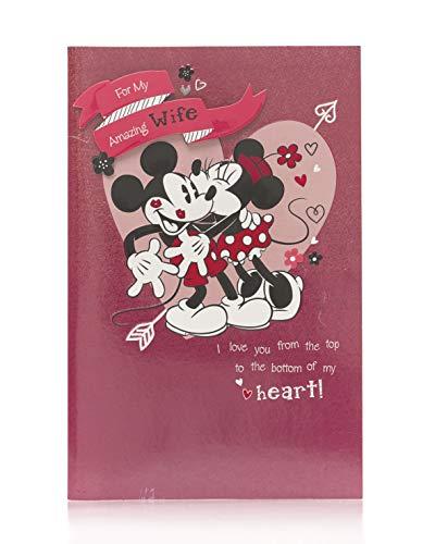 Valentinstagskarte für Ehefrau, Valentinstagskarte für Frau, Valentinstagskarte für Sie, Valentinstagsgeschenk für die Frau - Mickey & Minnie Maus