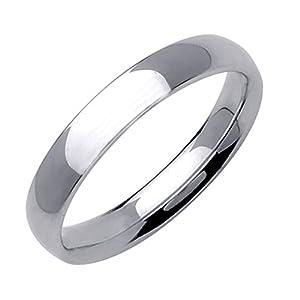 Gemini Damen-Ring Titan , Herren-Ring Titan , Freundschaftsringe , Hochzeitsringe , Eheringe, poliert , Breite 4mm Größe 48 – 66