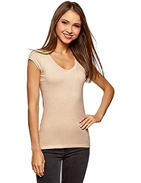 oodji Ultra Mujer Camiseta Básica (Pack de 2)