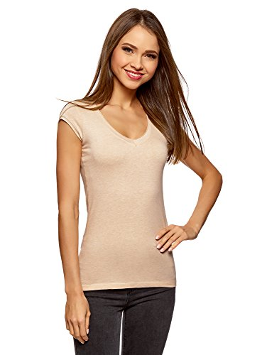 Oodji ultra donna t-shirt basic (pacco di 2), multicolore, it 50/eu 46/xxl
