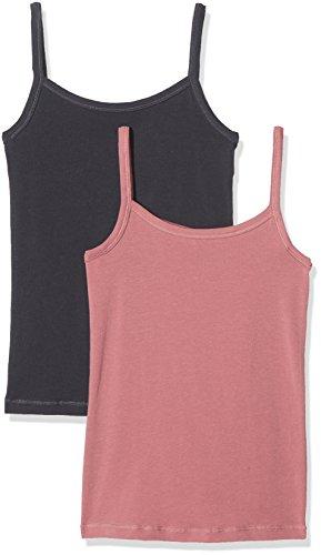Schiesser Mädchen Unterhemd Multipack 2 Pack Spaghettitops, Mehrfarbig (Schwarz,Rosa), 152 (Herstellergröße: 10-11 Years)