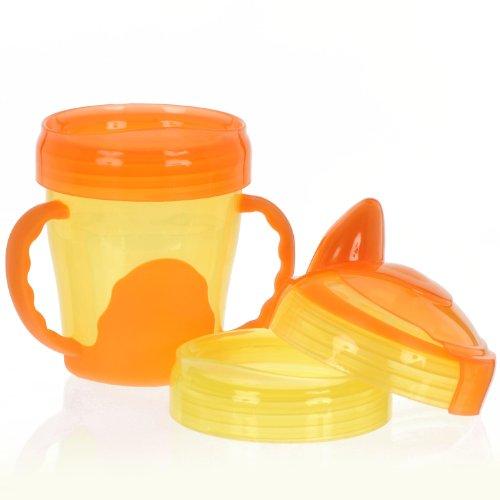 Vital Baby Mein erster 3-Stufen Trinklernbecher - 200 ml orange