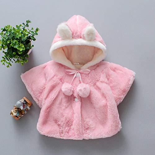Baumwolle Gepolstert Kleidung (WEIHAN Herbst und Winter tragen Neue Kinder Baumwolle gepolsterte Kleidung Mädchen Frühling Wolle Pullover Mantel Mantel Jacke 100cm rosa)