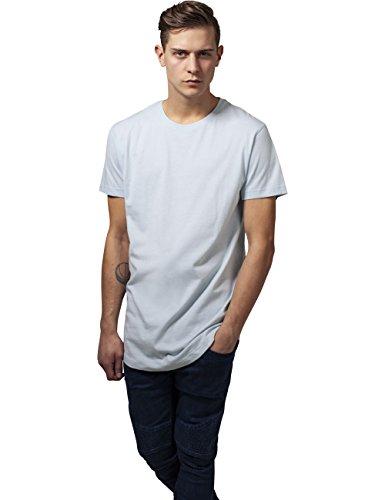 Urban Classics Herren T-Shirt Shaped Long Tee Blau (Babyblue 790)