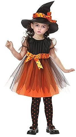 ZOEREA Déguisement halloween enfant robe fille Costume halloween enfant déguisement carnaval Robe Sorcière Sorcière